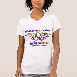 Autism Tribal Ribbon Daughter Tee Shirts