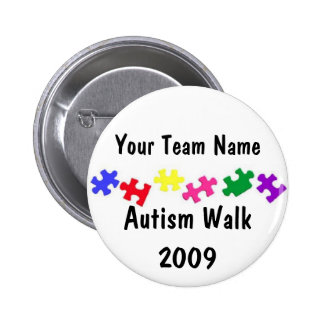 Autism Walk 2009 team button