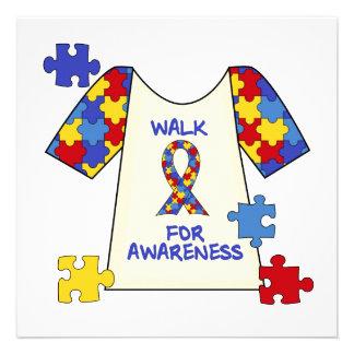 Autism Walk For Awareness Custom Invites