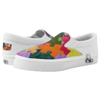 Autism's Path Zippy Slip-On Sneakers