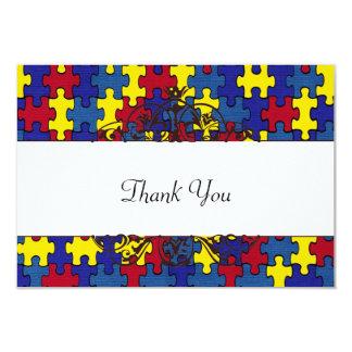AutismThank you 9 Cm X 13 Cm Invitation Card