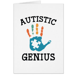 Autistic Genius Card