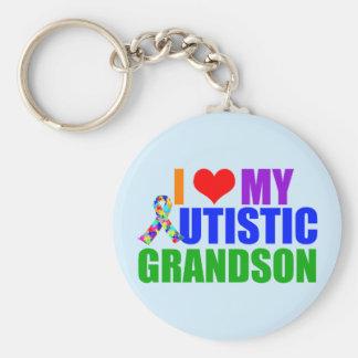 Autistic Grandson Key Ring