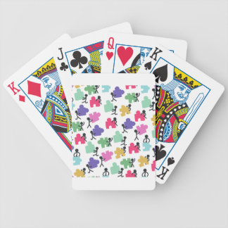 autistic people bicycle playing cards