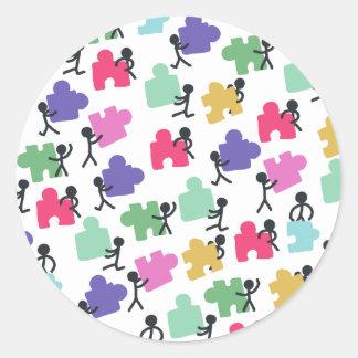 autistic people classic round sticker