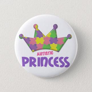 Autistic Princess 1 AUTISM 6 Cm Round Badge
