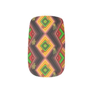 Autmn Aztech Pattern Minx Nail Art
