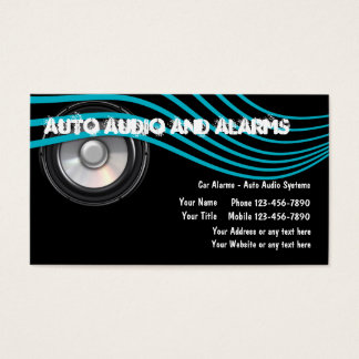 Auto Audio And Alarms Business Cards