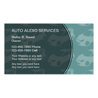 Auto Audio Business Cards