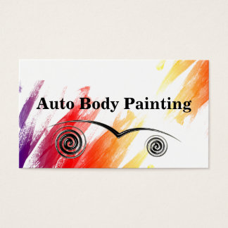 Auto Body Painting Business Cards