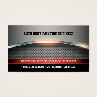 Auto Body Painting | Modern Business Card
