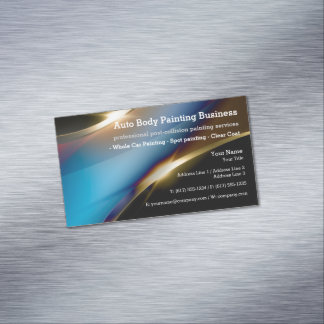 Auto Body Painting   Modern Professional Magnetic Business Card