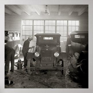 Auto Body Shop 1926 Print