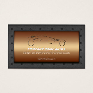 Auto Car on Brushed Copper - Sportscar template Business Card