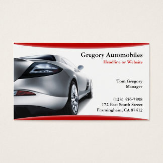 Auto Cars Business Card