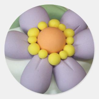 Auto colante Flower of Sugar Classic Round Sticker