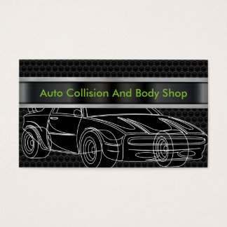 Auto Collision And Body Shop Business Card