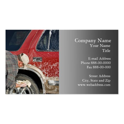 Auto Detail Business Card