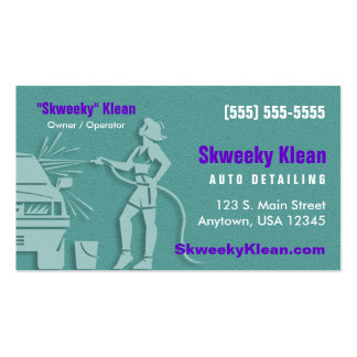 Auto Detailing / Car Wash Double-Sided Standard Business Cards (Pack Of 100)