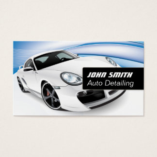Auto Detailing Car Wash Modern Business Card