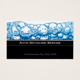 Auto Detailing Stylish Dark Business Card