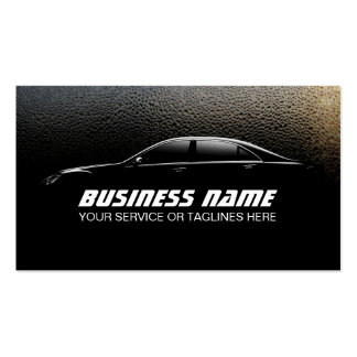 Auto Detailing Water Drops Professional Car Pack Of Standard Business Cards