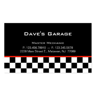 Auto Garage Business Card Racing
