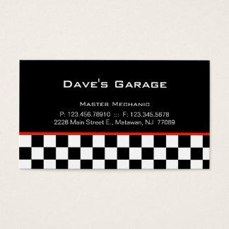 Auto Garage Business Card Racing