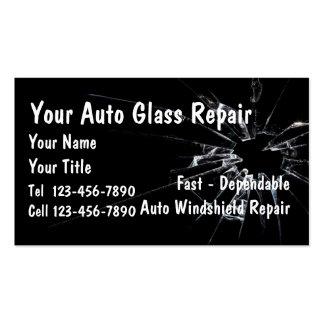 Auto Glass Repair Business Card Templates