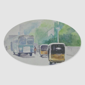 Auto - Indian Taxi Oval Sticker