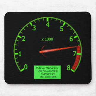 Auto Mechanic Business Rev Counter Mouse Pad