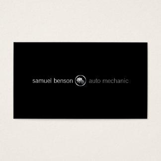 Auto Mechanic Car Gears Icon Business Card