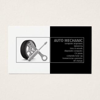Auto Mechanic Service Black White Card