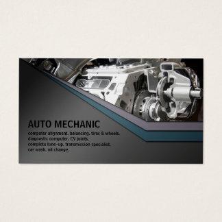 Auto Mechanic Service Metal Business Card