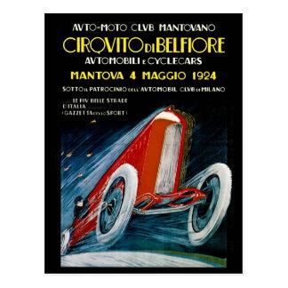 Auto Moto Club Mantovano Retro 1924 Postcards