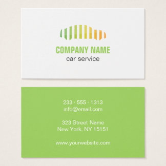 Auto painting Car service logo business card
