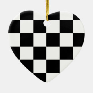 Auto Racing Chequered  Checkered Flag Ceramic Ornament