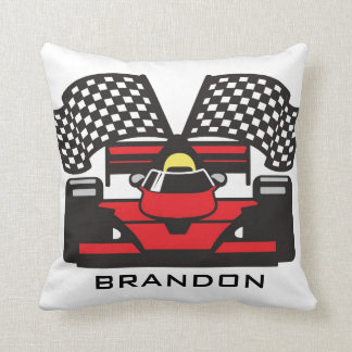 Auto Racing Design Throw Pillow Cushion