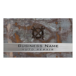 Auto Repair Car Dealer Rusty Metal Automotive Pack Of Standard Business Cards