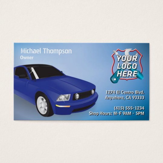 Auto Repair, Car Mechanic Business Card