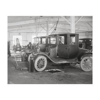 Auto Repair Garage 1926 Stretched Canvas Prints