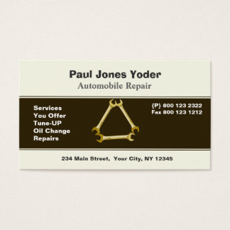Auto Repair Men's Tools Wrench Business Card