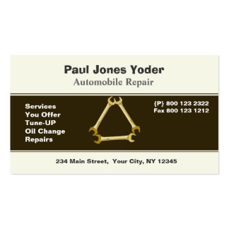 Auto Repair Men's Tools Wrench Pack Of Standard Business Cards