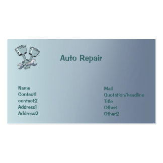 Auto Repair Pack Of Standard Business Cards
