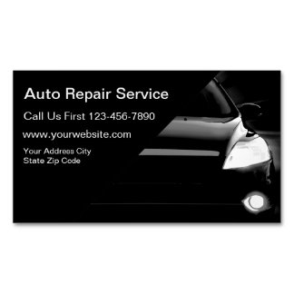 Auto Repair Service Magnetic Business Card