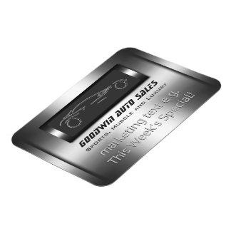 Auto Sales Specials - metal, silver auto Showroom Rectangular Photo Magnet