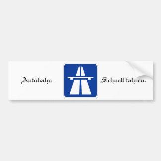 Autobahn Bumpersticker Bumper Sticker