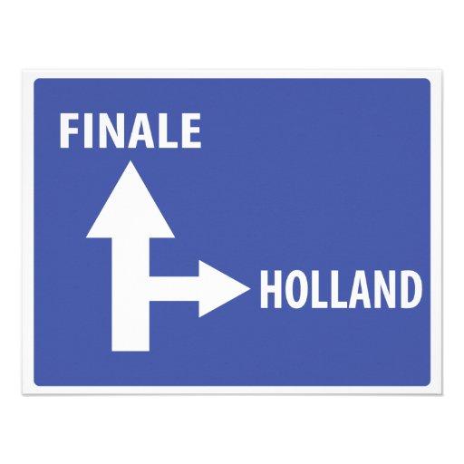 Autobahnschild Finale Holland Custom Invite