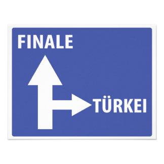 Autobahnschild Finale Türkei Personalized Invite