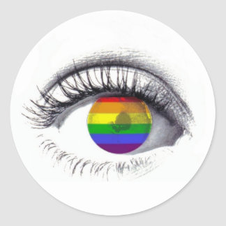 Autocolante Rainbow Eye Classic Round Sticker